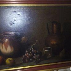 Arte: CUADRO OLEO SOBRE LIENZO,BODEGON,FIRMADO. Lote 179104510