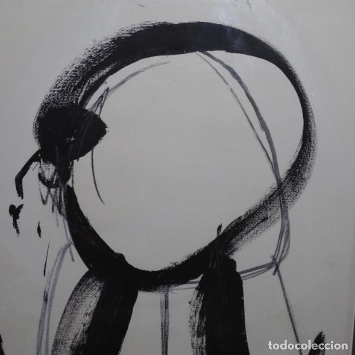 Arte: Gran dibujo a la tinta(óleo) de Eduard comabella de 1982.dedicado. - Foto 2 - 179115848