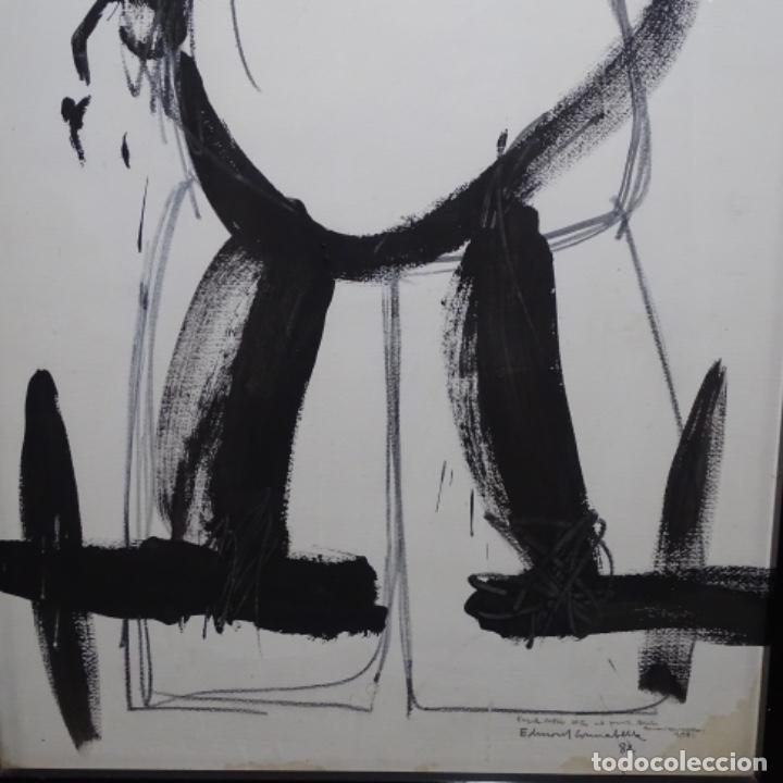 Arte: Gran dibujo a la tinta(óleo) de Eduard comabella de 1982.dedicado. - Foto 3 - 179115848