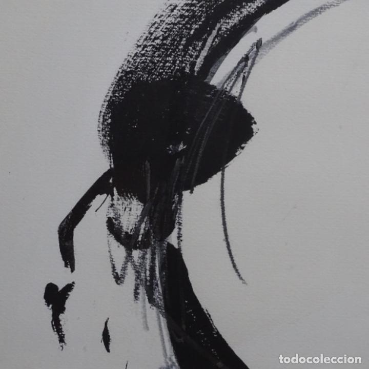 Arte: Gran dibujo a la tinta(óleo) de Eduard comabella de 1982.dedicado. - Foto 4 - 179115848