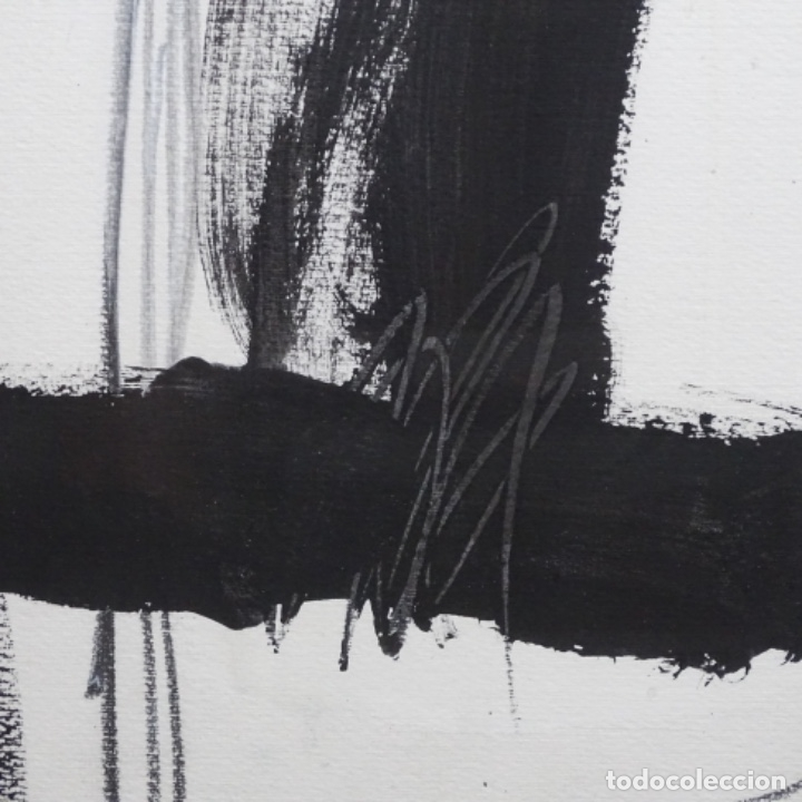 Arte: Gran dibujo a la tinta(óleo) de Eduard comabella de 1982.dedicado. - Foto 6 - 179115848