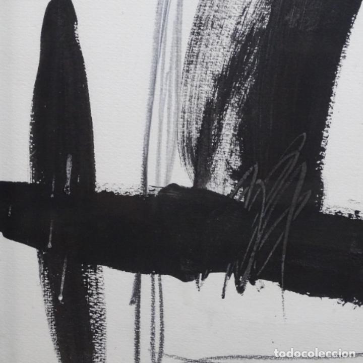Arte: Gran dibujo a la tinta(óleo) de Eduard comabella de 1982.dedicado. - Foto 7 - 179115848