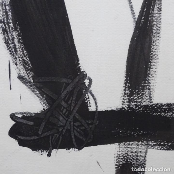 Arte: Gran dibujo a la tinta(óleo) de Eduard comabella de 1982.dedicado. - Foto 8 - 179115848