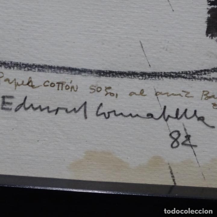 Arte: Gran dibujo a la tinta(óleo) de Eduard comabella de 1982.dedicado. - Foto 10 - 179115848