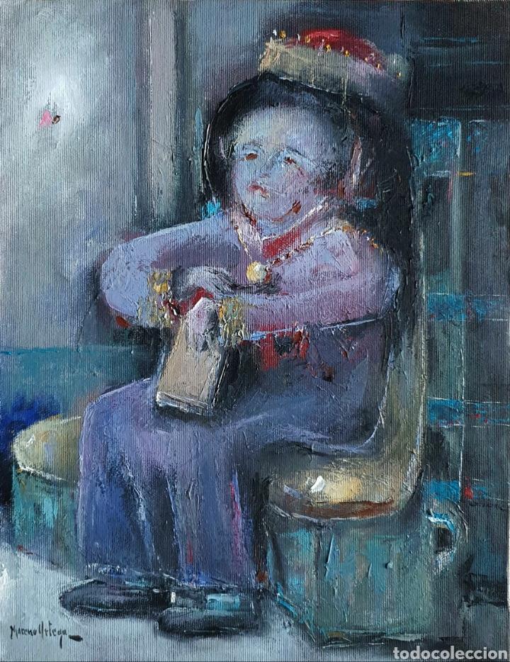 MORENO ORTEGA (MÁLAGA 1931), PRECIOSA PINTURA FIRMADA. (Arte - Pintura - Pintura al Óleo Contemporánea )