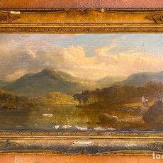 Arte: TOM SEYMOUR 1844 - 1904 . S. XIX , LOCH LOMOND , NEW BRUNSWICK , OLEO SOBRE LIENZO . Lote 179155967