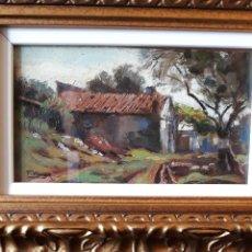 Arte: TOMÁS VIVER (TERRASSA 1876 1951) OLEO SOBRE TABLA( PAISAJE)PRECIO 195 €€€. Lote 179159595