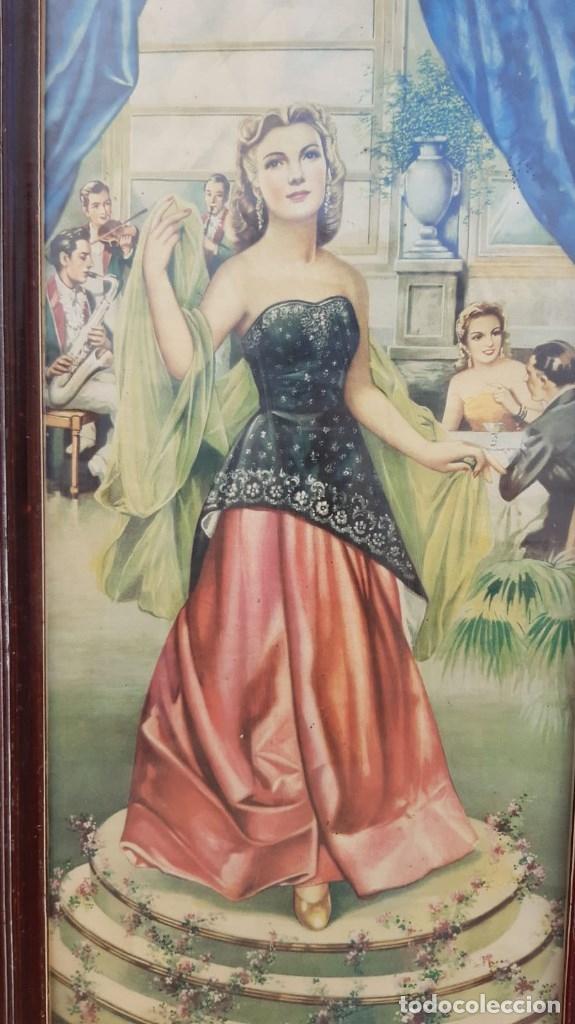 Arte: CUADROS VINTAGE LOTE DE 3 UDS. DE MUJERES TAMAÑO 65 CMS. DE ALTO X 35 DE LARGO PRECIO DEL COJUNTO - Foto 2 - 179159873