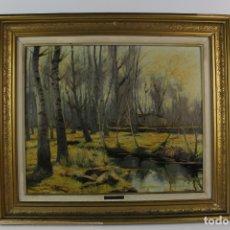 Arte: B-879. OLEO SOBRE LIENZO, PAISAJE. FIRMADO ISMAEL SUBIRANA. S.XX.. Lote 179160695