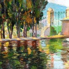 Arte: FRANCEC PLANAS DORIA (SABADELL 1879 - 1955) OLEO SOBRE TABLA. Lote 179191177
