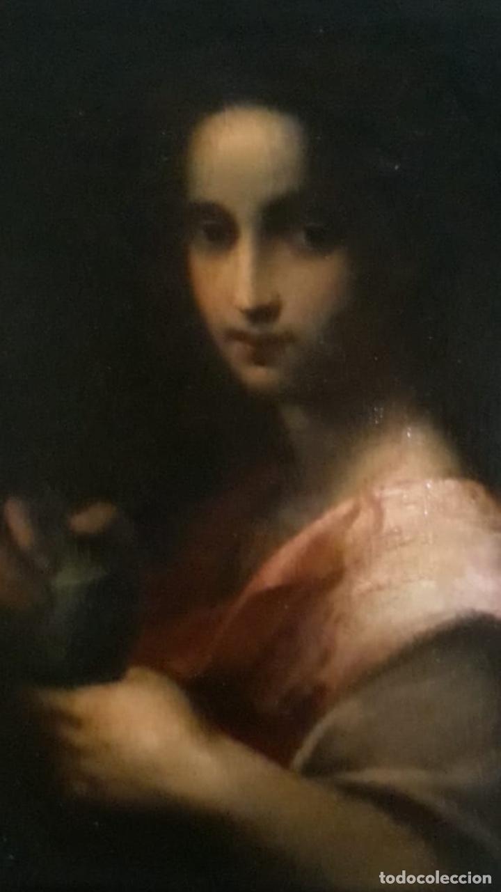 OLEO LIENZO SANTA MARIA MAGDALENA. SEGUIDOR DE DOMENICO PULIGO (Arte - Pintura - Pintura al Óleo Antigua sin fecha definida)