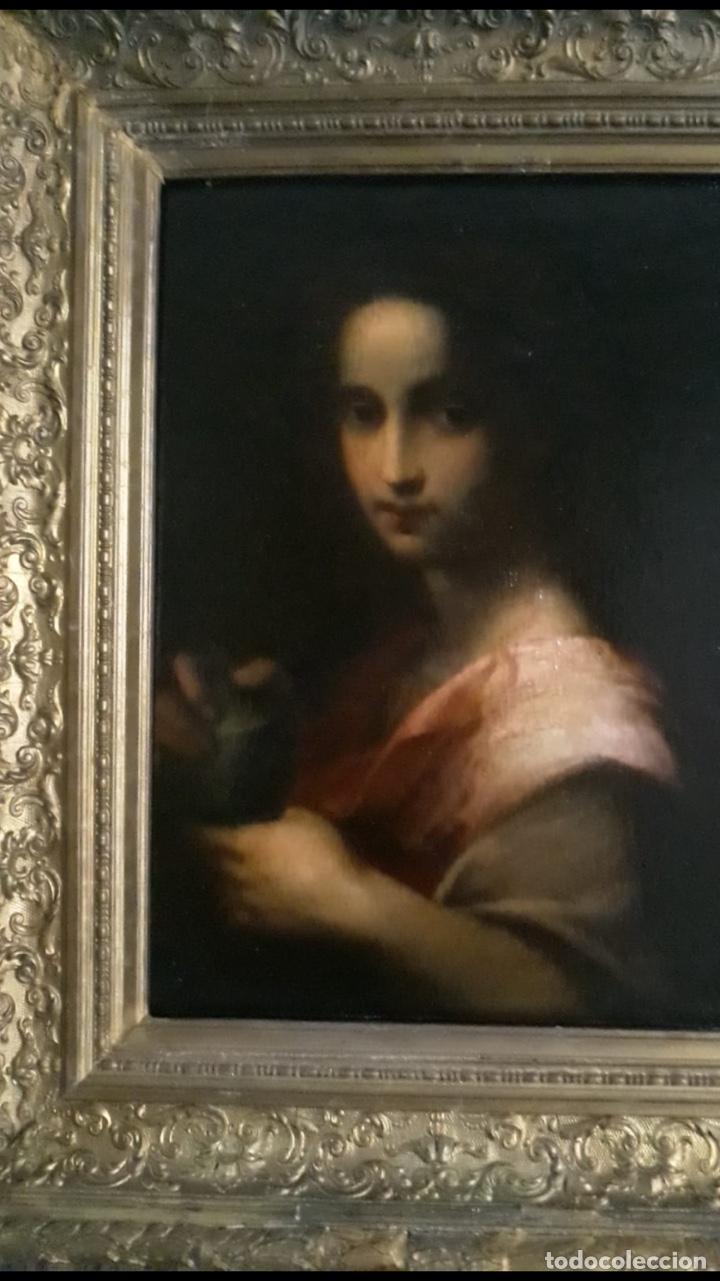 Arte: Oleo lienzo Santa Maria Magdalena. Seguidor de Domenico Puligo - Foto 2 - 175447432