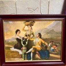 Arte: CUADRO ANTIGUO, PINTADO SOBRE MADERA. Lote 179203181