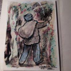 Arte: ORIGINAL FELICITACIÓN NAVIDAD DE MARÍA JESÚS DE SOLA.. Lote 179204497