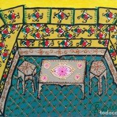 Arte: INTERIOR TITULADO EL SALÓN DE NADIA OBRA DE RUTH CALDERÍN. Lote 179220557