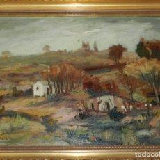 Arte: (M) ÓLEO FIRMADO RIVAROLA - PAISAJE, ENMARCADO, BUEN ESTADO. Lote 179232908