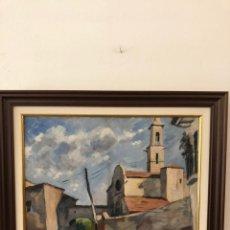 Arte: ANTONI ROCA, (1895-1977) SANT MARTI VALL, ÓLEO SOBRE TELA 46,50 X 55,00. Lote 179234225