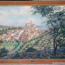 Arte: EDUARD VIAL HUGAS (1910 - 1999), VISTA DE CADAQUÉS, PINTURA AL ÓLEO SOBRE TELA, CON MARCO.. Lote 179240033