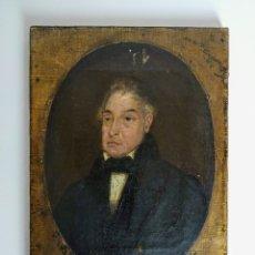 Arte: RETRATO DE CABALLERO, ÓLEO SOBRE LIENZO, S XIX.. Lote 179255205