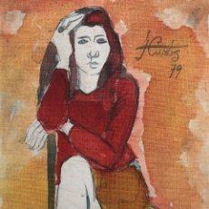 Arte: JORDI CURÓS VENTURA (1930-2007) - FIGURA FEMENINA MUJER. Lote 179314381