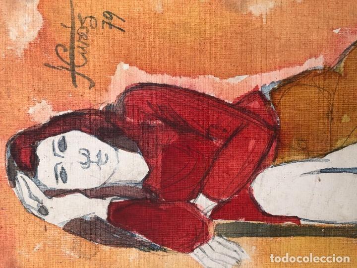 Arte: Jordi Curós Ventura (1930-2007) - Figura femenina mujer - Foto 7 - 179314381