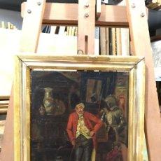 Arte: MAGNIFICO CORTESANO SIGLO XVIII, OLEO SOBRE TABLA. Lote 179328298