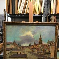 Arte: EXCEPCIONAL VISTA DE TOLEDO, ESTEBAN DOMENECH, COTIZADO PINTOR DE TOLEDO. Lote 179329768