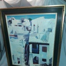 Arte: BELLO CUADRO OLEO SOBRE LIENZO BINIBECA FIRMADO AÑO 1977 ENMARCADO. Lote 179338706