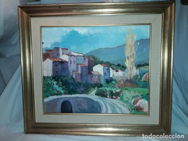 BELLO CUADRO OLEO SOBRE LIENZO CORNUDELLA FIRMADO Y ENMARCADO (Arte - Pintura - Pintura al Óleo Contemporánea )