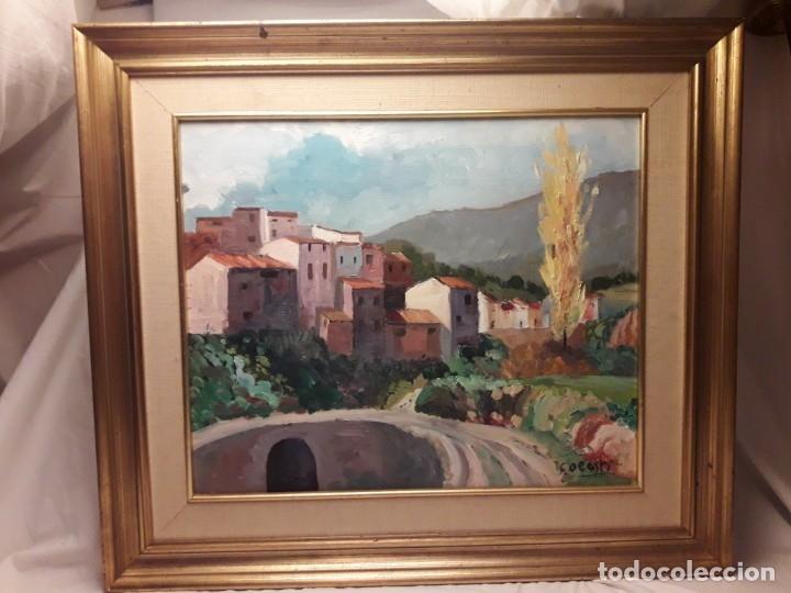 Arte: Bello cuadro oleo sobre lienzo Cornudella firmado y enmarcado - Foto 2 - 179339770