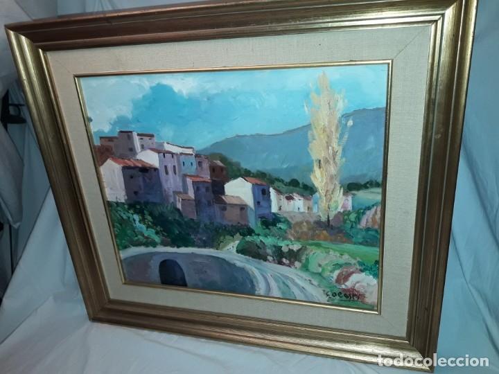 Arte: Bello cuadro oleo sobre lienzo Cornudella firmado y enmarcado - Foto 3 - 179339770