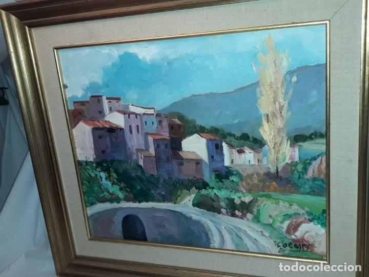 Arte: Bello cuadro oleo sobre lienzo Cornudella firmado y enmarcado - Foto 4 - 179339770