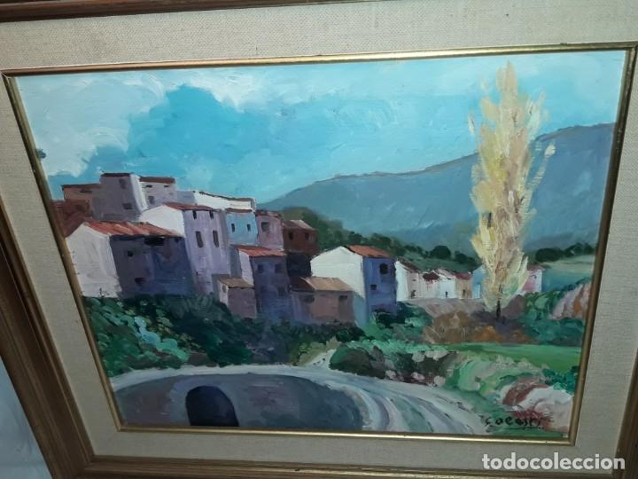 Arte: Bello cuadro oleo sobre lienzo Cornudella firmado y enmarcado - Foto 5 - 179339770