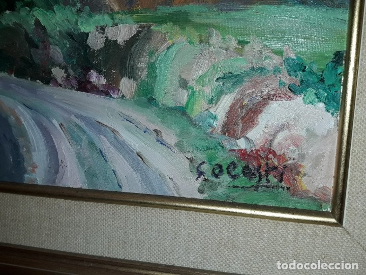 Arte: Bello cuadro oleo sobre lienzo Cornudella firmado y enmarcado - Foto 6 - 179339770