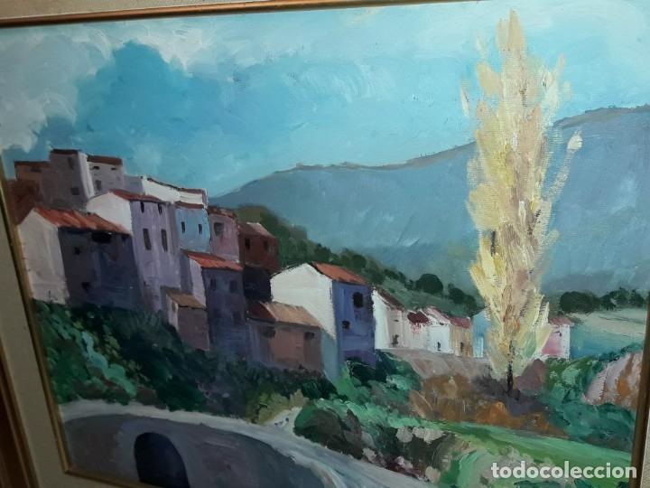Arte: Bello cuadro oleo sobre lienzo Cornudella firmado y enmarcado - Foto 7 - 179339770