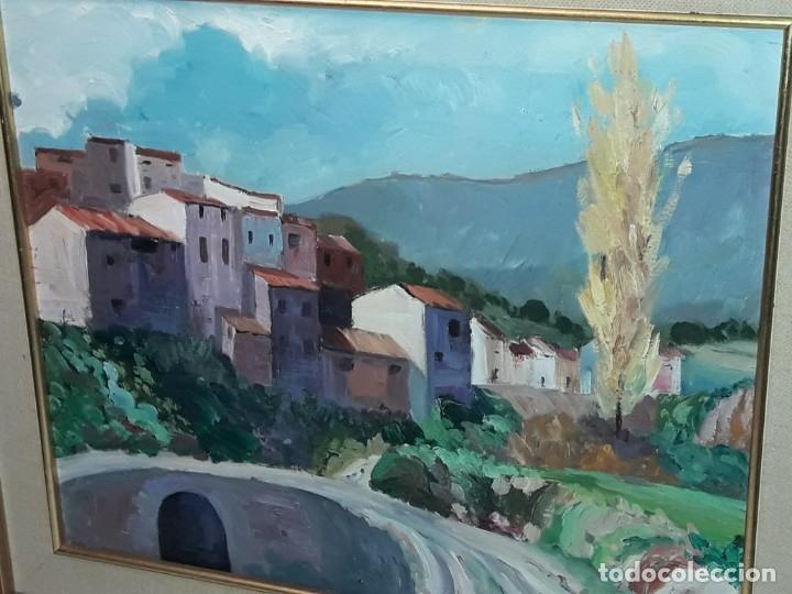 Arte: Bello cuadro oleo sobre lienzo Cornudella firmado y enmarcado - Foto 9 - 179339770