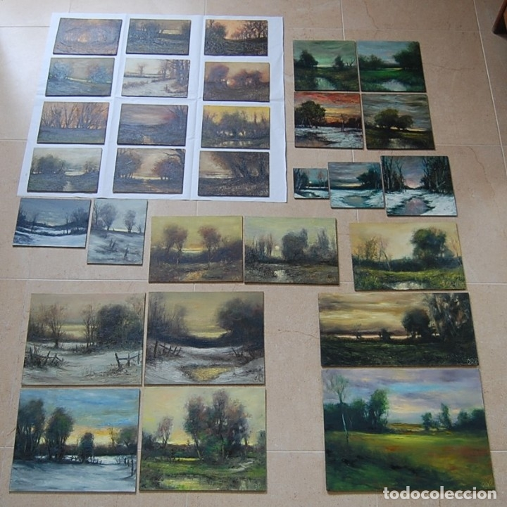 Arte: PAISAJE NEVADO: IMPRESIONISMO - EXPRESIONISMO - Foto 3 - 179379623
