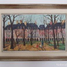 Arte: JOSEP Mª VAYREDA CANADELL (OLOT 1932- GIRONA 2001) - PLACE DES VOSGES, PARÍS - AÑO 67. Lote 179385332