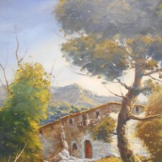 Arte: PINTURA AL OLEO SOBRE TELA - PAISAJE RURAL - FIRMADO DOMENECH - . Lote 179529833