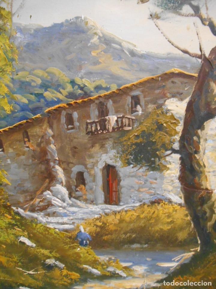 Arte: PINTURA AL OLEO SOBRE TELA - PAISAJE RURAL - FIRMADO DOMENECH - - Foto 3 - 179529833