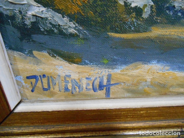 Arte: PINTURA AL OLEO SOBRE TELA - PAISAJE RURAL - FIRMADO DOMENECH - - Foto 4 - 179529833