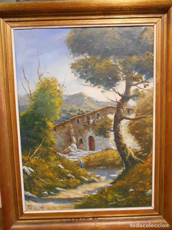 Arte: PINTURA AL OLEO SOBRE TELA - PAISAJE RURAL - FIRMADO DOMENECH - - Foto 8 - 179529833