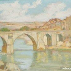 Arte: RAIMUNDO CASTRO-CIRES (VALLADOLID, 1894 - MADRID, 1970). PAISAJE. ÓLEO SOBRE LIENZO.. Lote 179536763