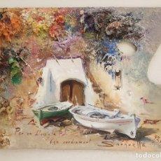 Arte: JOSEP SARQUELLA I ESCOBET, (1928-2000), OLEO SOBRE MADERA. Lote 179657112