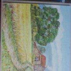 Arte: CUADRO AL ÓLEO PAISAJE FIRMADO ISABEL 41X33. Lote 179664530