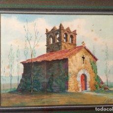 Arte: ÓLEO ERMITA DE SANT SIX VIC DE DOLORS CALLOL CHEVALIER (BARCELONA 1886-1940 ACTIVO ESPAÑA SIGLO XX). Lote 194320470