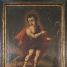 Arte: NIÑO JESÚS. EL BUEN PASTOR. ÓLEO SOBRE LIENZO. ANÓNIMO. SIGLO XVIII-XIX.. Lote 179945680