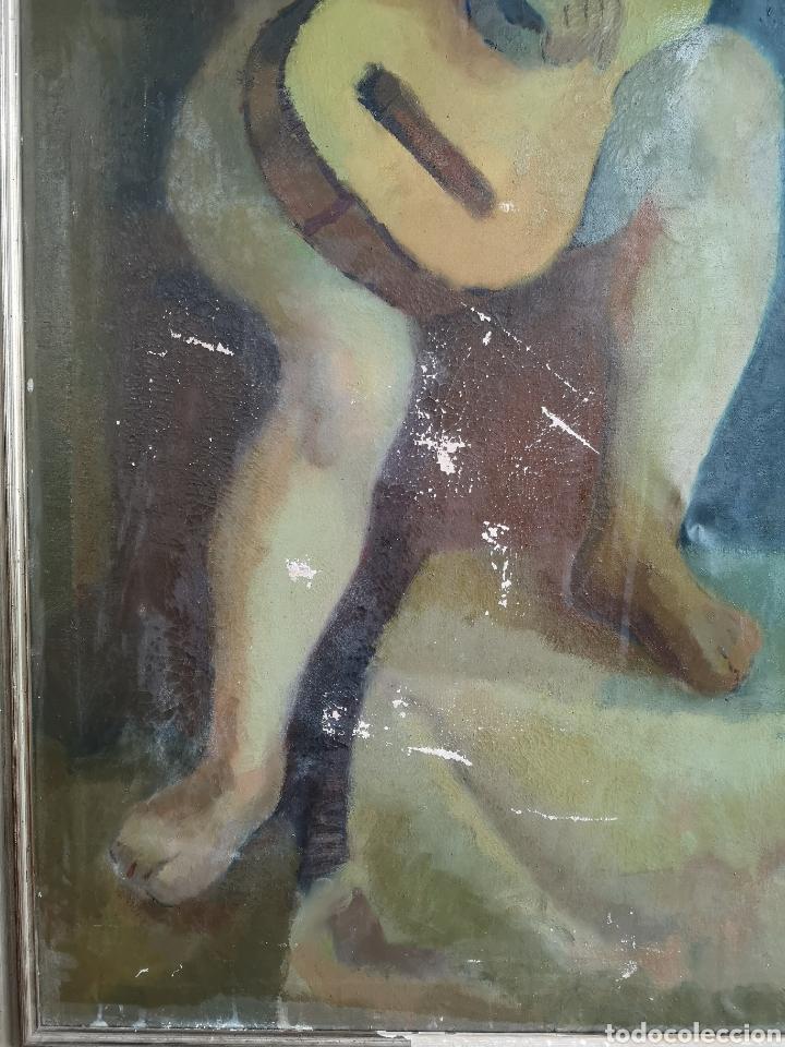 Arte: Martinez R. Oleo firmado y fechado, 1927. Medidas enmarcado. 79x129cm. Necesita restauración - Foto 4 - 180012865