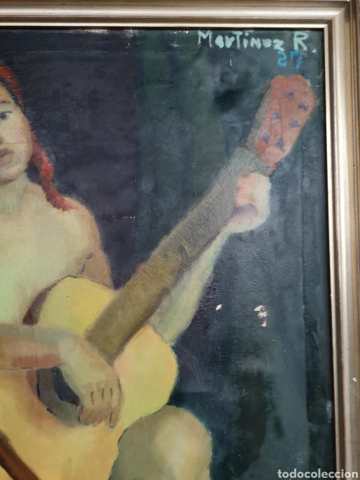 Arte: Martinez R. Oleo firmado y fechado, 1927. Medidas enmarcado. 79x129cm. Necesita restauración - Foto 5 - 180012865