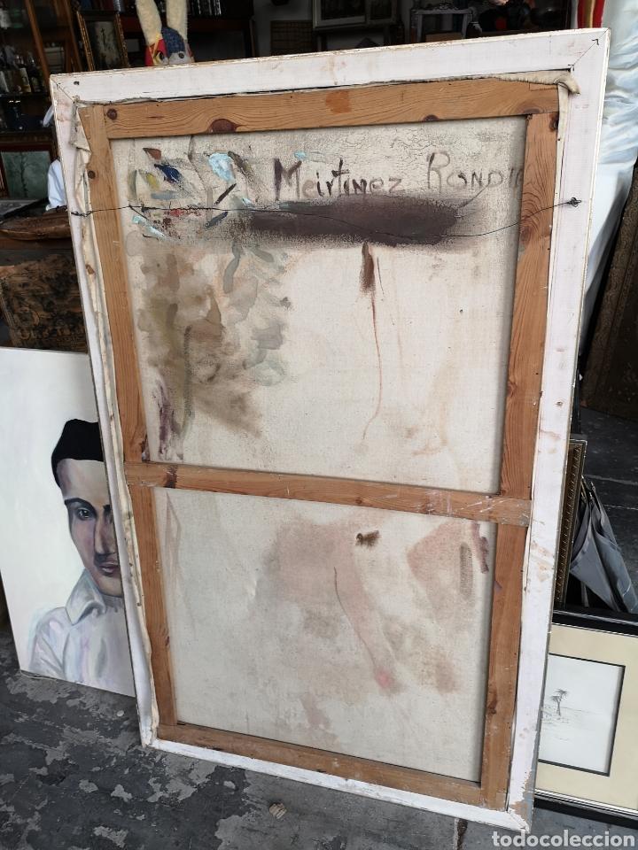 Arte: Martinez R. Oleo firmado y fechado, 1927. Medidas enmarcado. 79x129cm. Necesita restauración - Foto 8 - 180012865